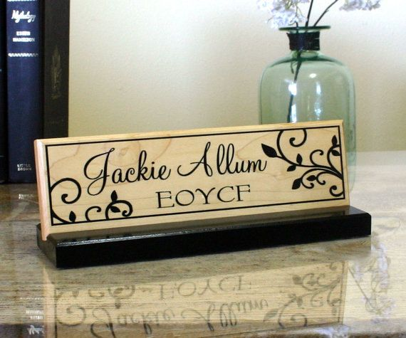 Desk Name Plate Personalized Desk Name Sign by CustomSignworks