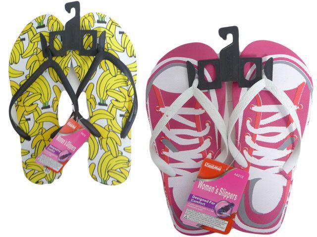 Wholesale Flip Flops, Bulk Lot of 72 Pairs in Assorted Colors, Style 442120, Ladies, Women, Trendy
