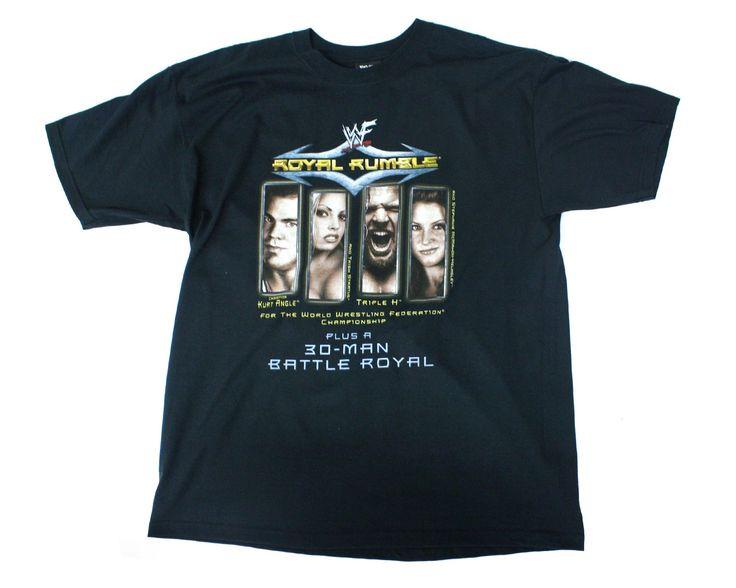 WWF ROYAL RUMBLE 2001 VINTAGE T-SHIRT XL