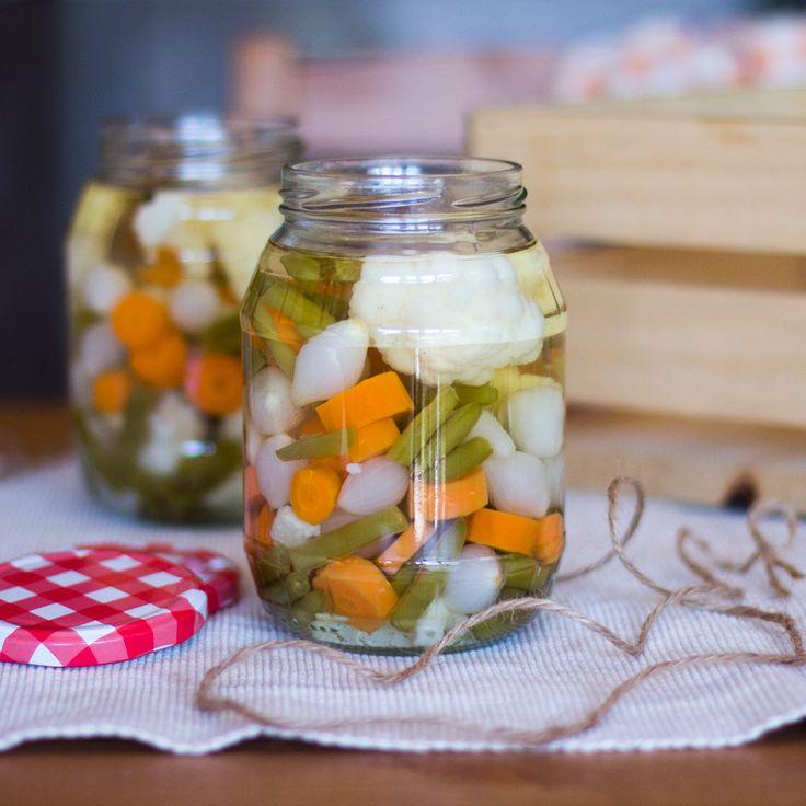 Cómo preparar jardinera de verduras en vinagre con thermomix