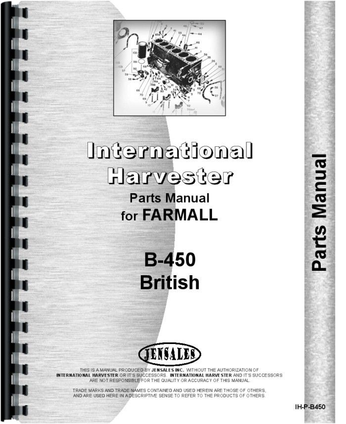 17 best ideas about international tractor parts international harvester b 450 tractor parts manual