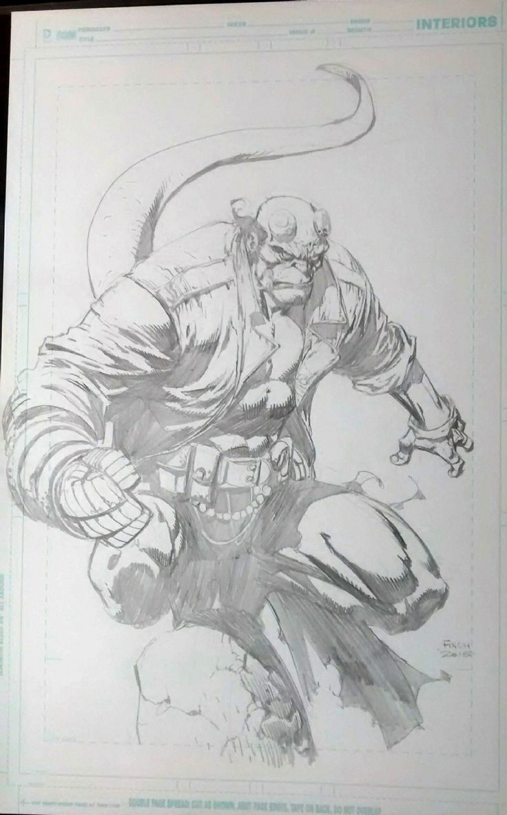 Hellboy by David Finch Comic Art