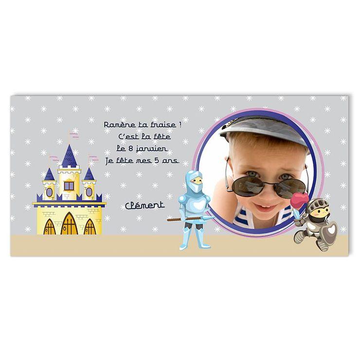carte invitation anniversaire garçon 8 ans à imprimer