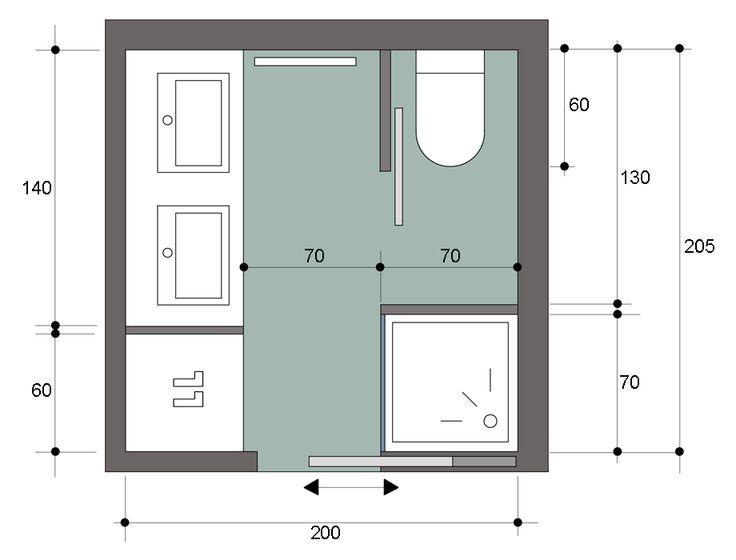 Charming Salle De Bain Carre #14: Les 25 Meilleures Idées De La Catégorie Salle De Bain 4m2 Sur Pinterest    Dimension Douche, Salle De Bain En Béton Et Meubles Sur Mesure