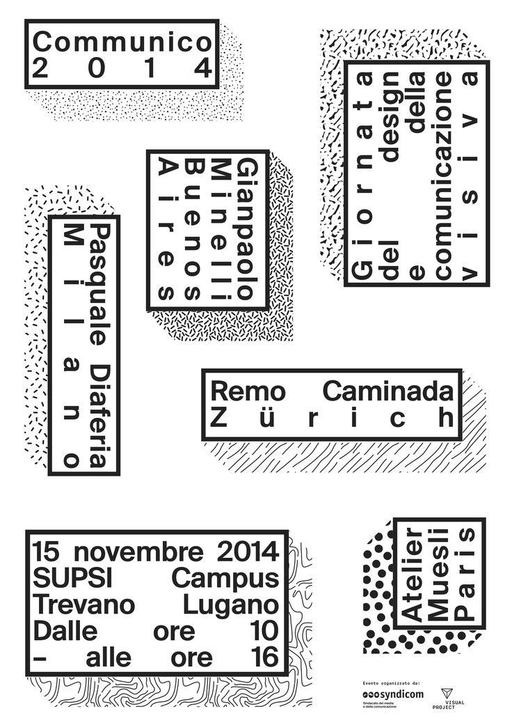 centralstudio.ch / Communico Lugano, Day of Typography 2014