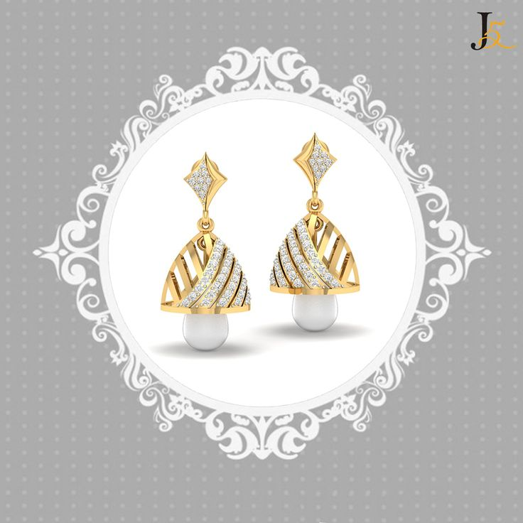 Best #classic #diamond #jewellery for ethnic wear  https://jewels5.com/jewellery/earrings/Jhumkis