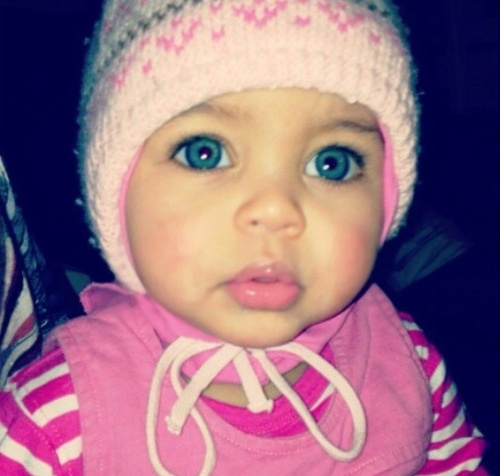 Mixed Newborn Baby Girls With Blue Eyes My future cute little mixed