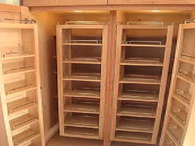Free Standing Wood Pantry