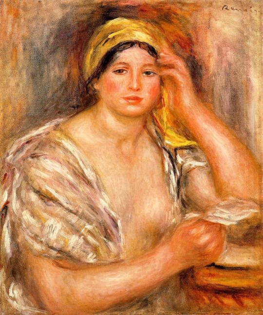 Woman with a Yellow Turban by Pierre-Auguste Renoir