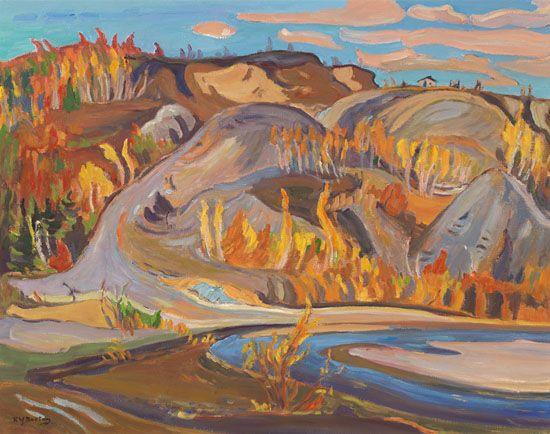 Ralph Wallace Burton - Bonanza Creek Yukon NWT 25 x 32 Oil on canvas
