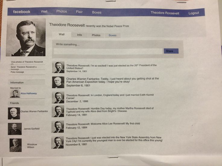 This would have been a fun AP US History assignment! I would love to do this. Make facebook profiles of different historical figures and just see their lives on timelines.