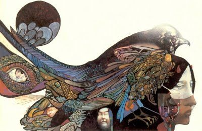 """Cover art for """"Deathbird Stories"""" by Leo and Diane Dillon: Deathbird Stories, Leo Dillon, Diane Dillon, Ellison Deathbird, Book Illustrations, Artists Inspiration, Covers Art, Awards Win Artists, Ellison Covers"""