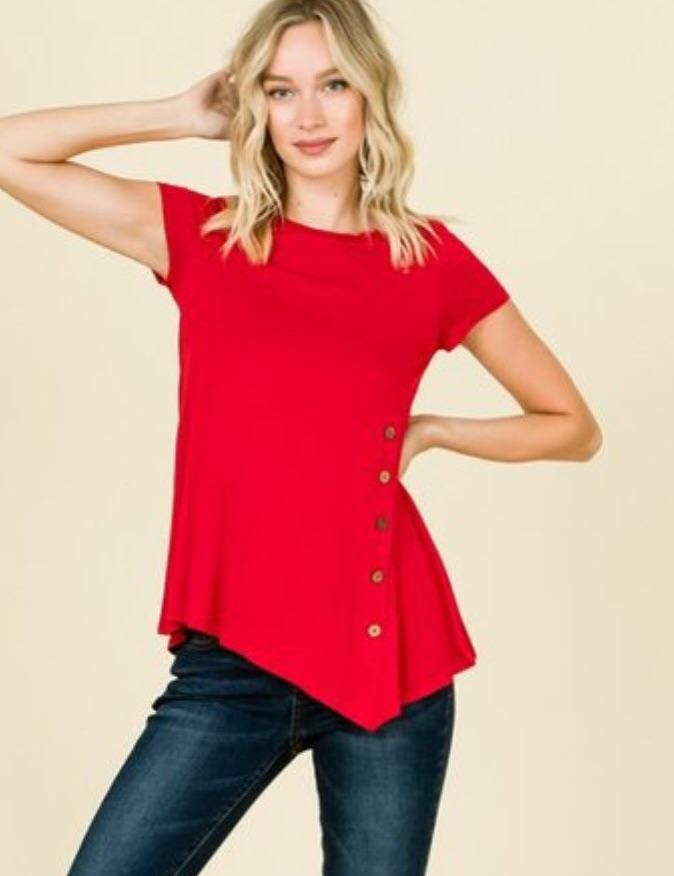 834b6cf766672 MomMe And More Best  1 Women s Solid Red Tunic Tops – MomMe and More