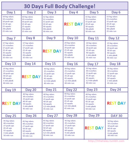 My own 30 Days Full Body Challenge! Please try it!