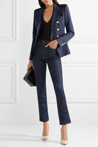 37673667 Balmain - Double-breasted wool-twill blazer in 2019 | Wish List ...