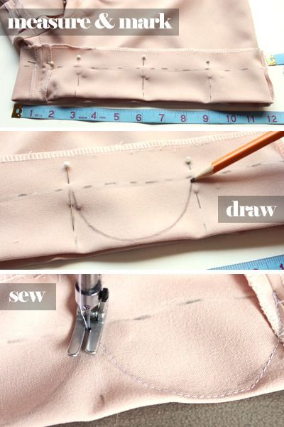 Peach-scalloped-shorts