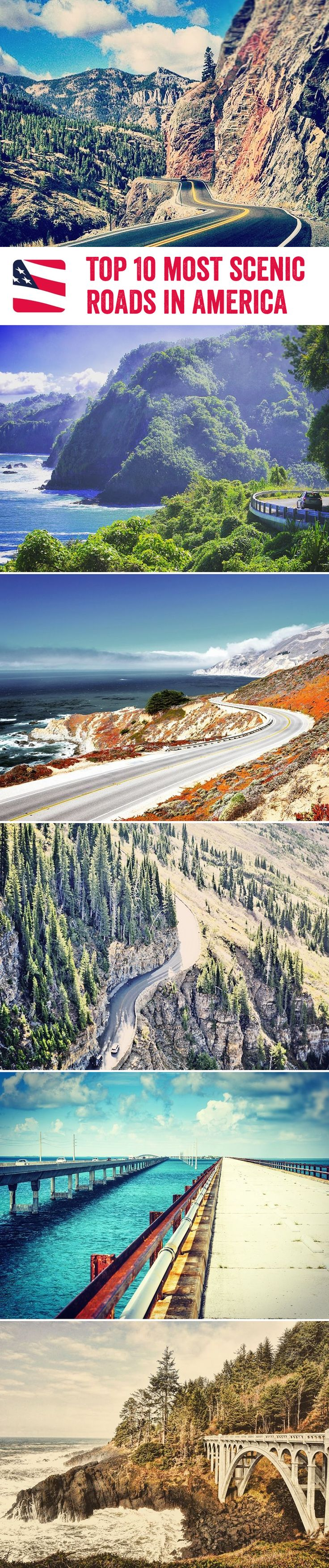 Amazing U.S. Sights You Should Visit Before You Die Grab your car, put the roof down, turn the speakers up, and get ready for a road-trip of a lifetime – we're taking you to 10 of the most scenic roads in America