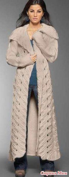 Как связать ♛ подиумное пальто - Вязание - Страна Мам