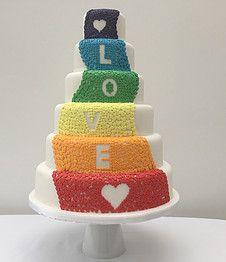 The Cake Lab Bakery, Ranelagh, Dublin, Ireland. Artisan Baking Studio.  Pride Rainbow Cake.  Gay, LGBT.  Love Hearts.
