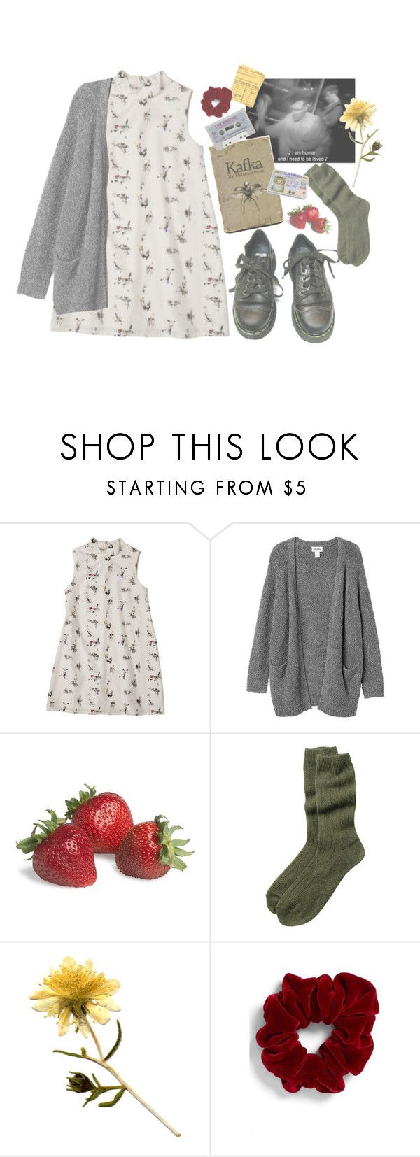 """How Soon Is Now?"" by reckonerr ❤ liked on Polyvore featuring Dr. Martens, Monki, Toast and L. Erickson"