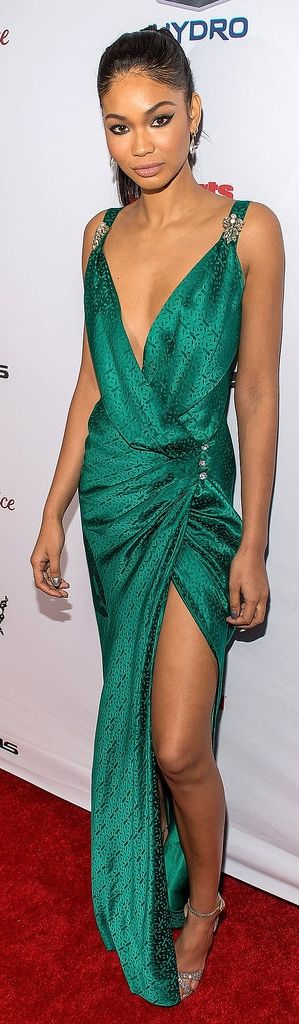 Chanel Iman at the Sport's Illustrated Swimsuit Issue Party