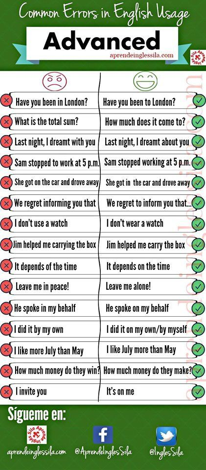 Don't make these mistakes! #learnenglish