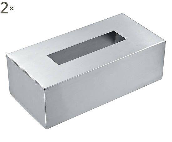 Set di 2 porta kleenex in acciaio inox - Nova € 27- 36