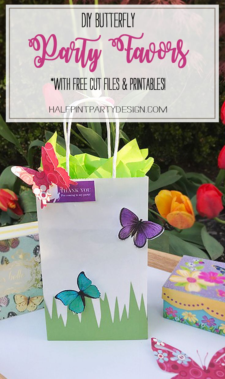 Diy simple and easy paper diy butterfly party decorations - Diy Butterfly Party Favor Free Printable