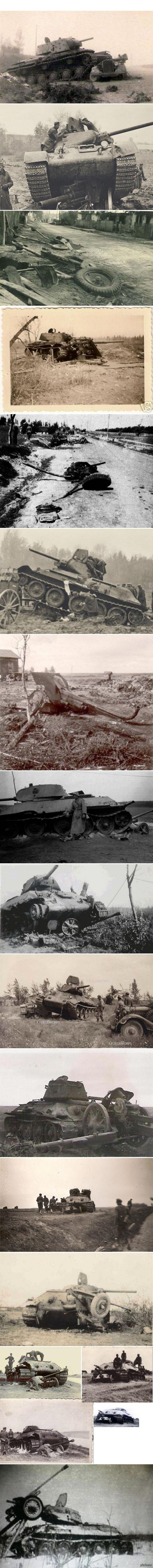 """""""Русские танки атакуют!""""  (фото вермахта) роковой сорок первый"""