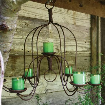 outside chandelier | Large Iron Chandelier - eclectic - outdoor lighting - atlanta - by ...