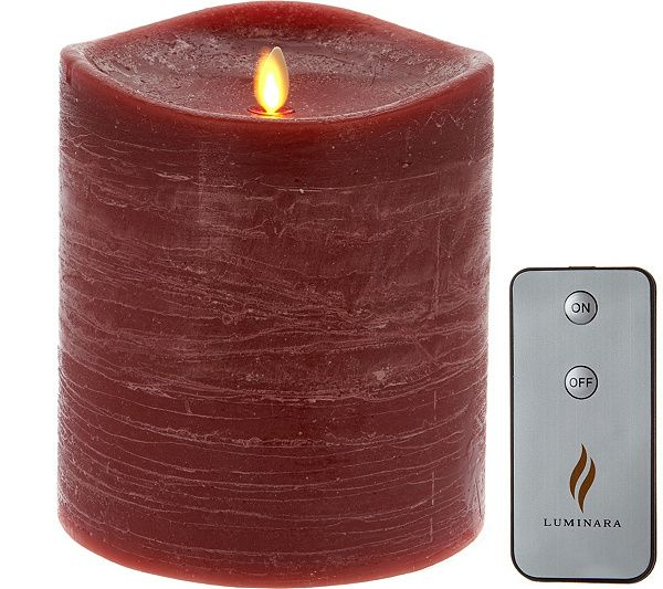 Luminara 6 Rustic Flameless Candle With Remote Qvc Com