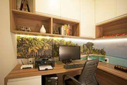 Projekty,  Domowe biuro i gabinet zaprojektowane przez  Spelzon Lima Arquitetura e Interiores
