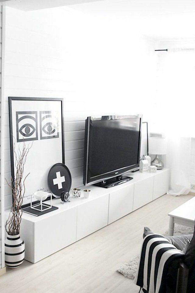 mobile TV e la decorazione in bianco e nero nel 2019 ...