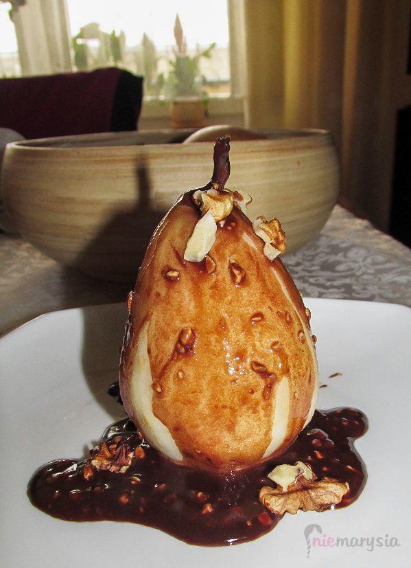 gruszka w czekoladzie :)