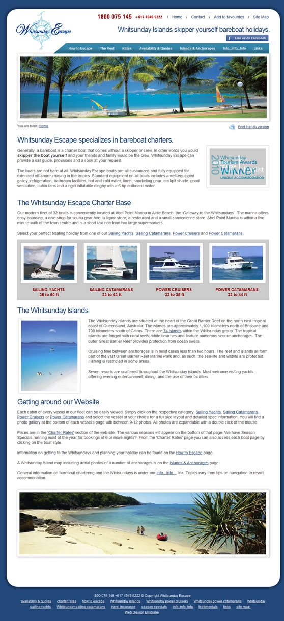 Whitsunday Escape Website
