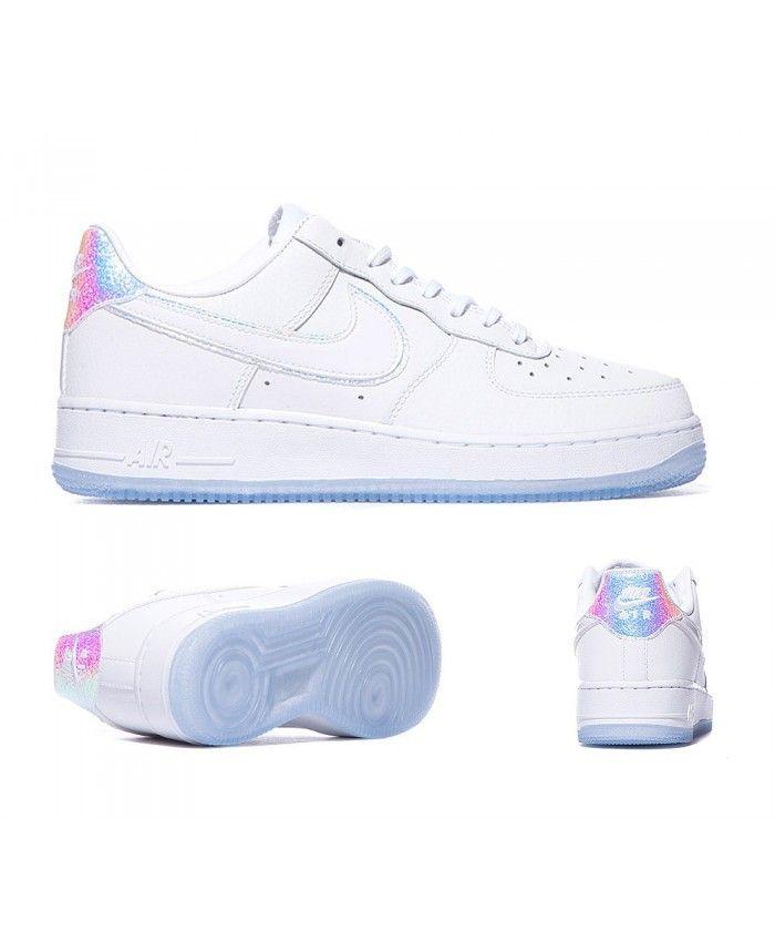 b3ad812e5e37 Nike Womens Air Force 1 07 Premium Trainers White Blue Tint S92434 ...