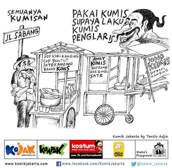 Semuanya Pake Kumis by Tantio Adjie #KomikJakarta https://t.co/pz9RxaAo6X