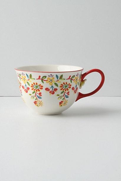 taza decorada.