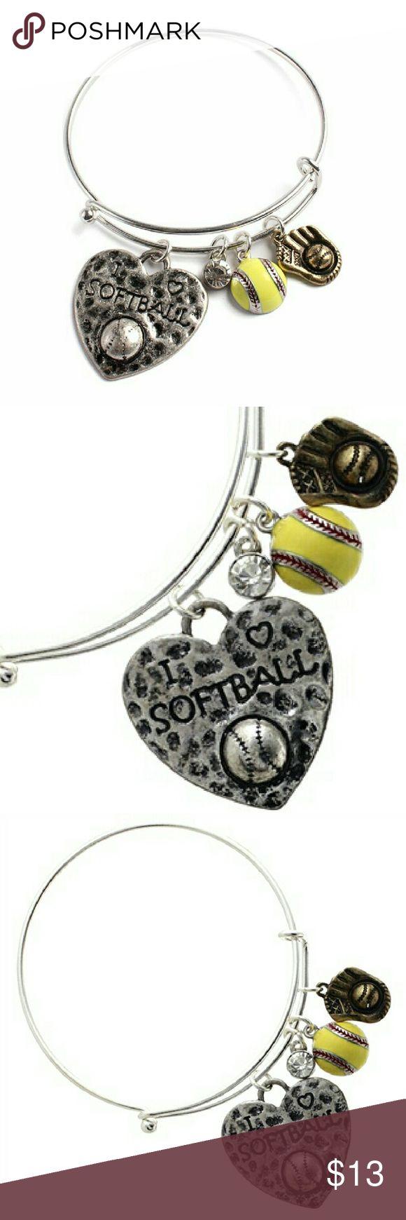 Softball Charm Bracelet Boutique