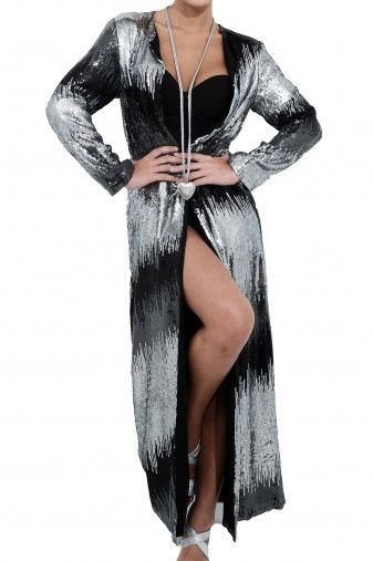 Nina Jacket... Long pailletes jacket fron Hippy Heart Winter 2013