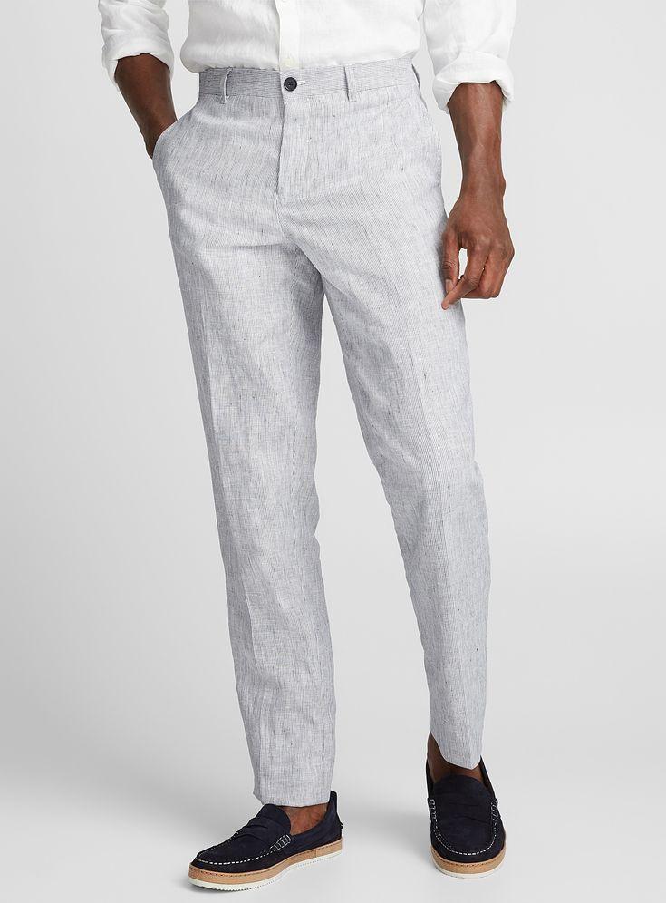 Irregular Stripe Linen Pant Mens Linen Pants Striped Linen Pants Linen Pants Outfit