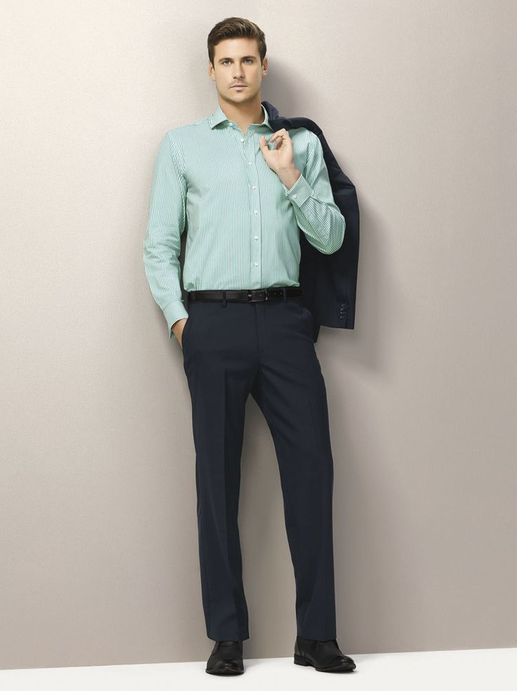 Wool Stretch Flat Front Pant #bizcorporates #woolstretch #boulevard #woolsuiting
