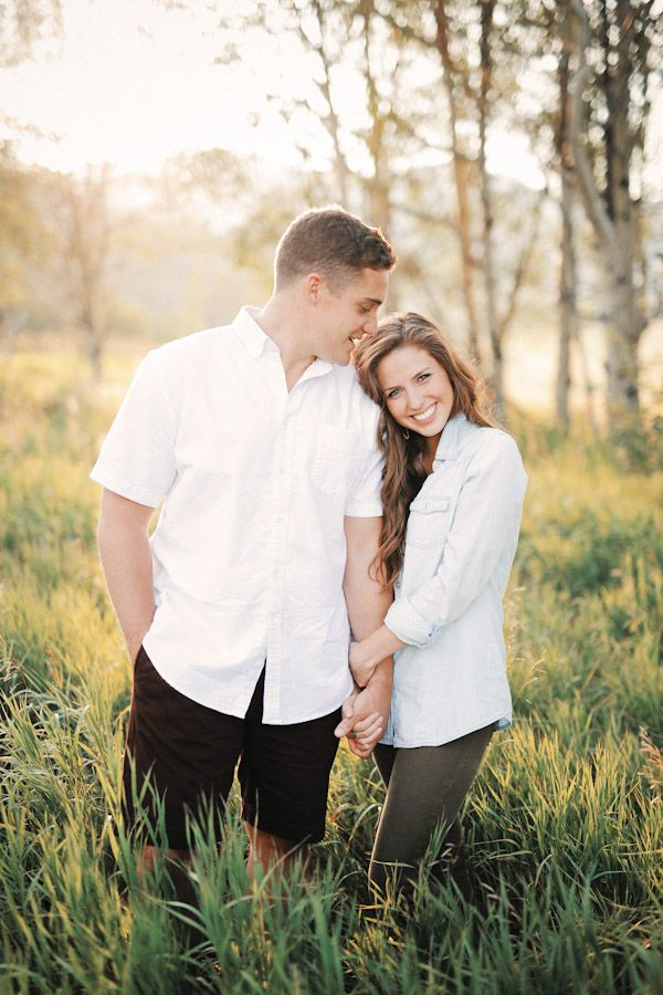 Utah Wedding Photographer. Intimate engagement shots. Neutral color scheme. High grass. Beautiful lighting. Summer. Crisp shots. | Park City Engagement Session {Nicole Cooper} | http://www.gideonphoto.com/blog