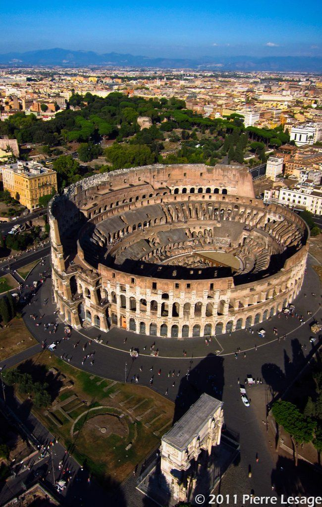 72AD - The #Colosseum, #Rome - the Flavian Amphitheatre (Latin: Amphitheatrum Flavium; Italian: Anfiteatro Flavio or Colosseo) is an elliptical amphitheatre in the centre of the city. Built of concrete and stone. (photo // by Pierre Lesage via Flickr)