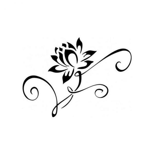 lotusbloem tattoo zwart wit - Google zoeken