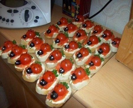 Подборка бутербродов для праздничного стола