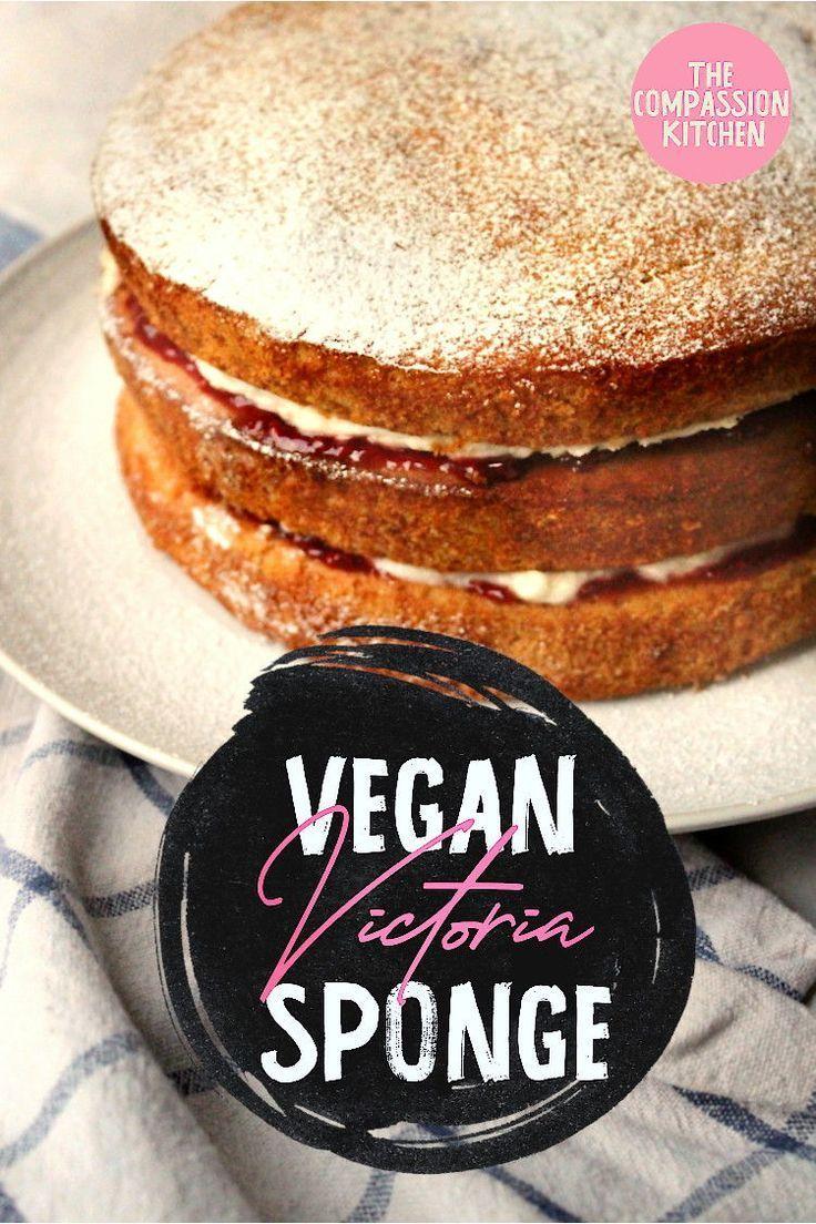 Victoria Sponge Recipe Vegan Victoria Sponge Food Recipes Vegan Buttercream