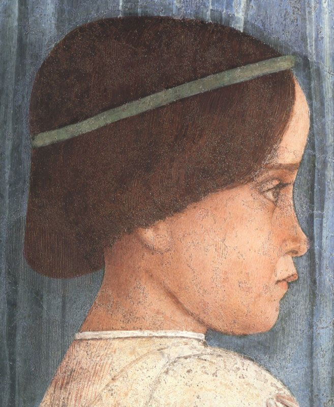 Volto di bambina nella ''Camera degli sposi'' di Mantegna
