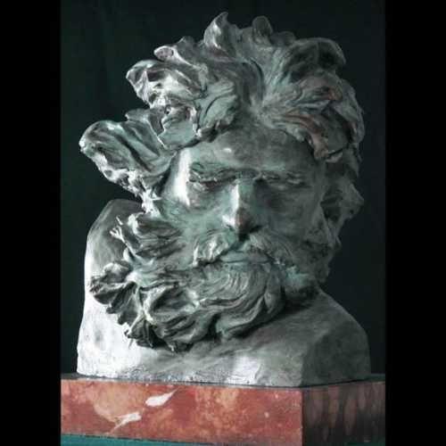 Bronze God or Goddess, or Deity #sculpture by #sculptor William Mather titled: 'Berninis Neptune (Small Bust Roman God Bronze Sculptures /statuettes)' #art