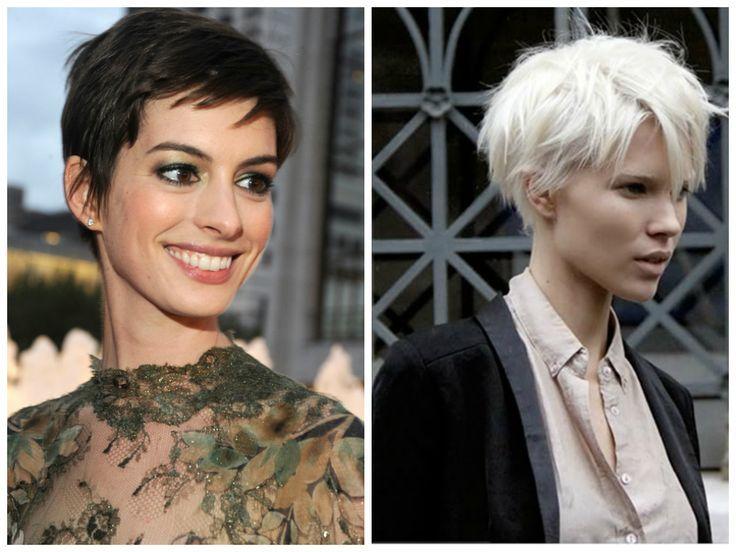 Edgy Hairstyles for Fine Hair | Edgy pixie hair cut for an oval face shape.